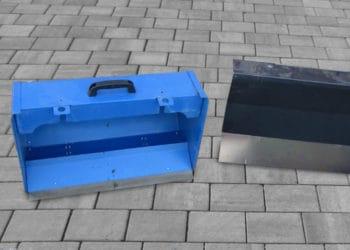 Löblich: ein Auffangbehälter sowie ein praktisches Schneeschild liegen im Lieferumfang mit anbei.